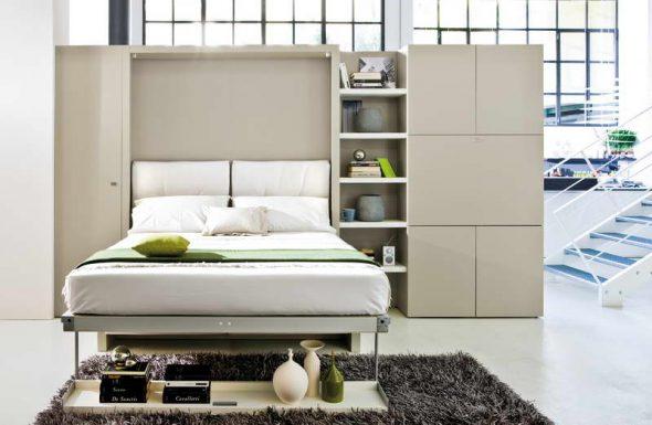 מיטה לבנה לבן בפנים
