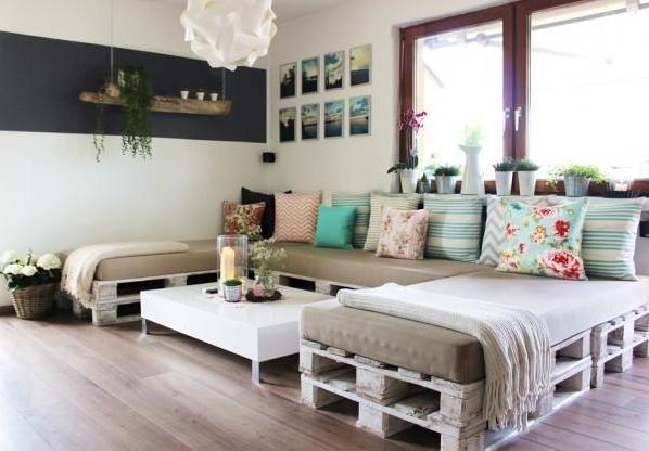 grand canapé de palettes
