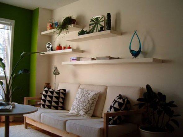 Planken decor in de slaapkamer