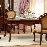 olohuoneet klassinen pähkinäpöytä tuolit
