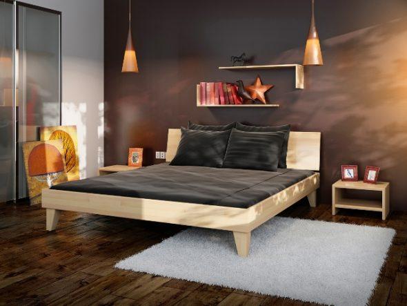 Ruimtebesparend door de plank boven het bed