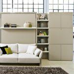 canapé-lit dans un grand et spacieux salon