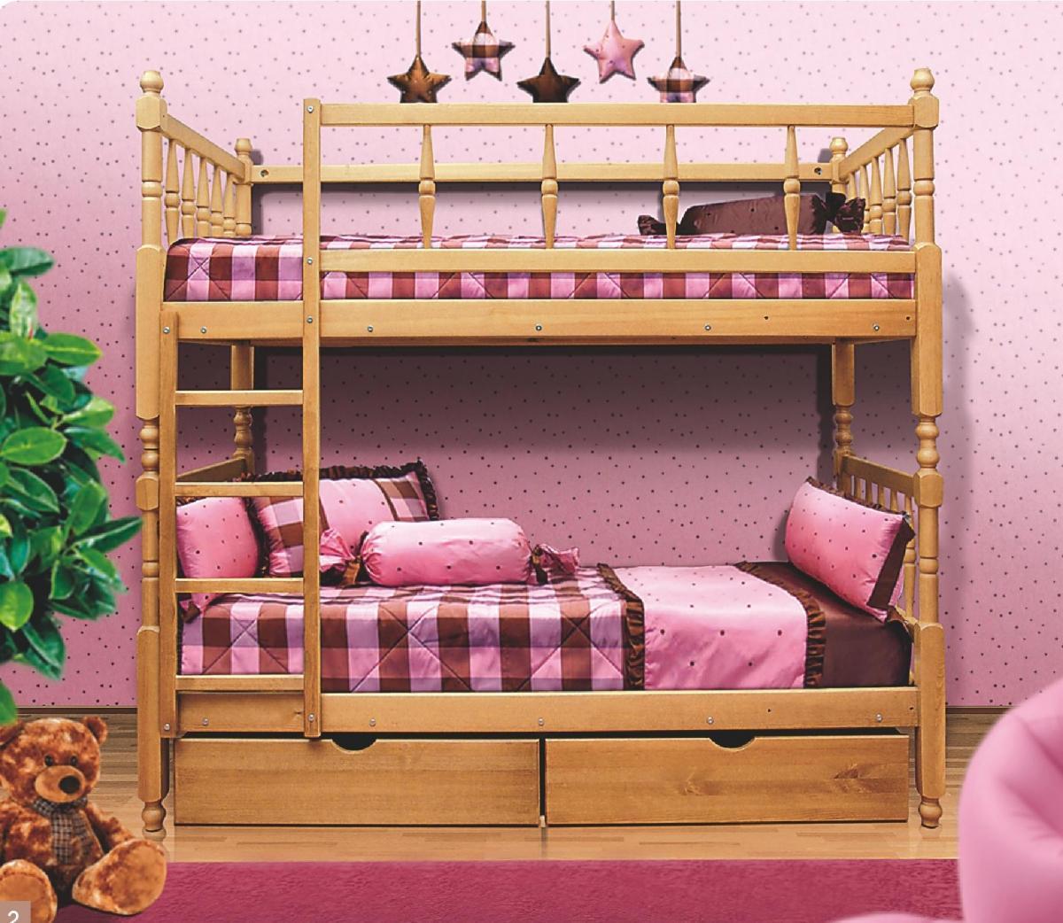 lit superposé dans la chambre de bébé dans le style de shebby chic