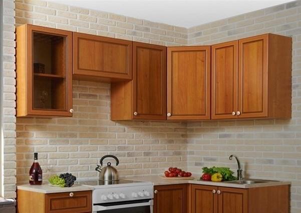 armoires de cuisine en une ligne