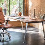 chaise de bureau marron