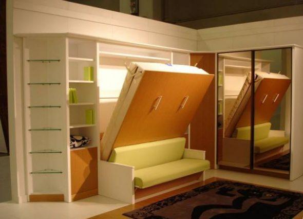 lit élévateur avec canapé