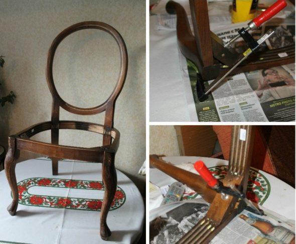 puinen tuolin korjaus