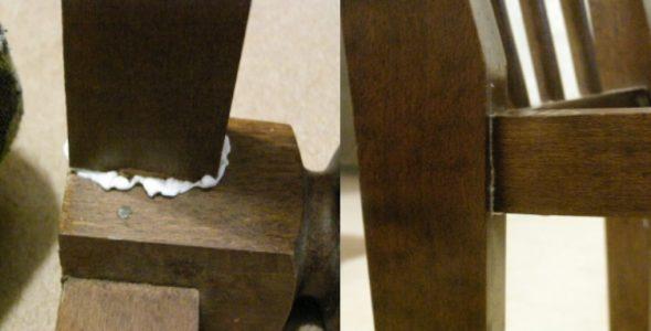 tuoli liimattu