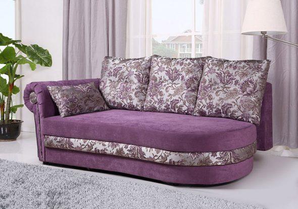pouf violet