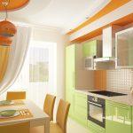 Couleurs vives saturées des meubles de cuisine
