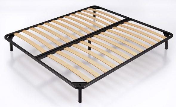 מסגרת המיטה עם לוחות