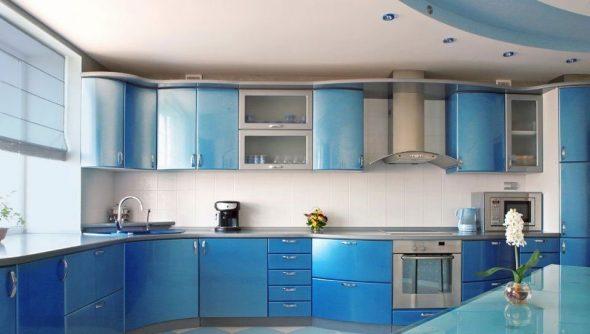 Meuble de cuisine bleu