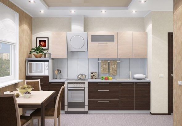 Combinaisons de couleurs à la mode dans les meubles de cuisine