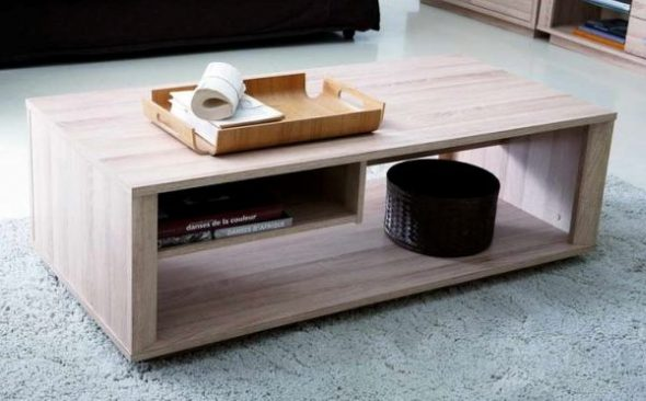 La table basse la plus simple en MDF