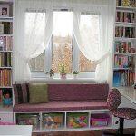 Handige planken kunnen rond het raam worden gemaakt.