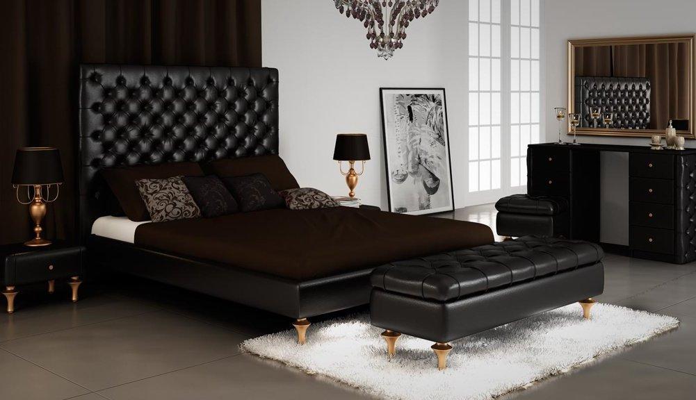 lit avec canapé noir