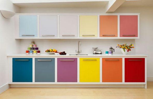 set de cuisine de couleur