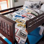 lit superposé pour une chambre d'adolescent