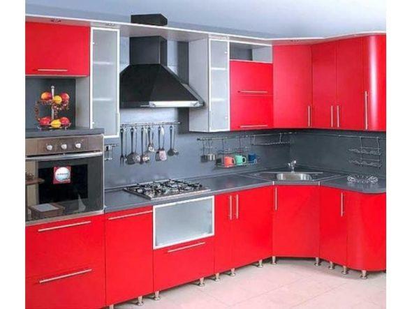 couleur rouge pour set de cuisine