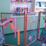 מסך עבור משחקים בגן הילדים