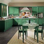 set de cuisine vert