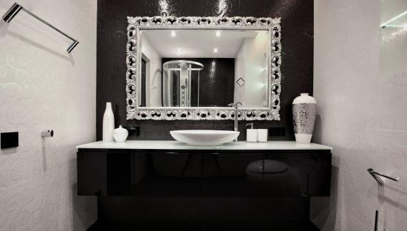 Meuble de salle de bain noir