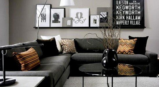 Couleur noire des meubles et des murs