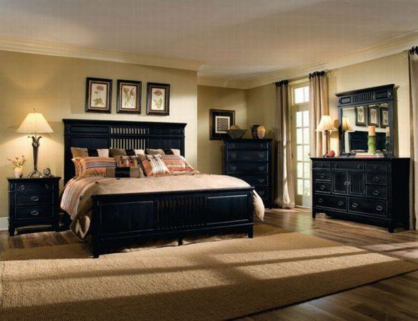 Les meubles noirs sont très élégants