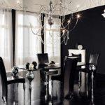 Salon design en noir