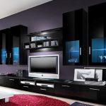 Salon au design noir moderne