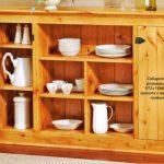 Buffet en bois de bricolage de style campagnard simple