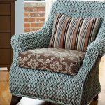 housse de chaise tricotée
