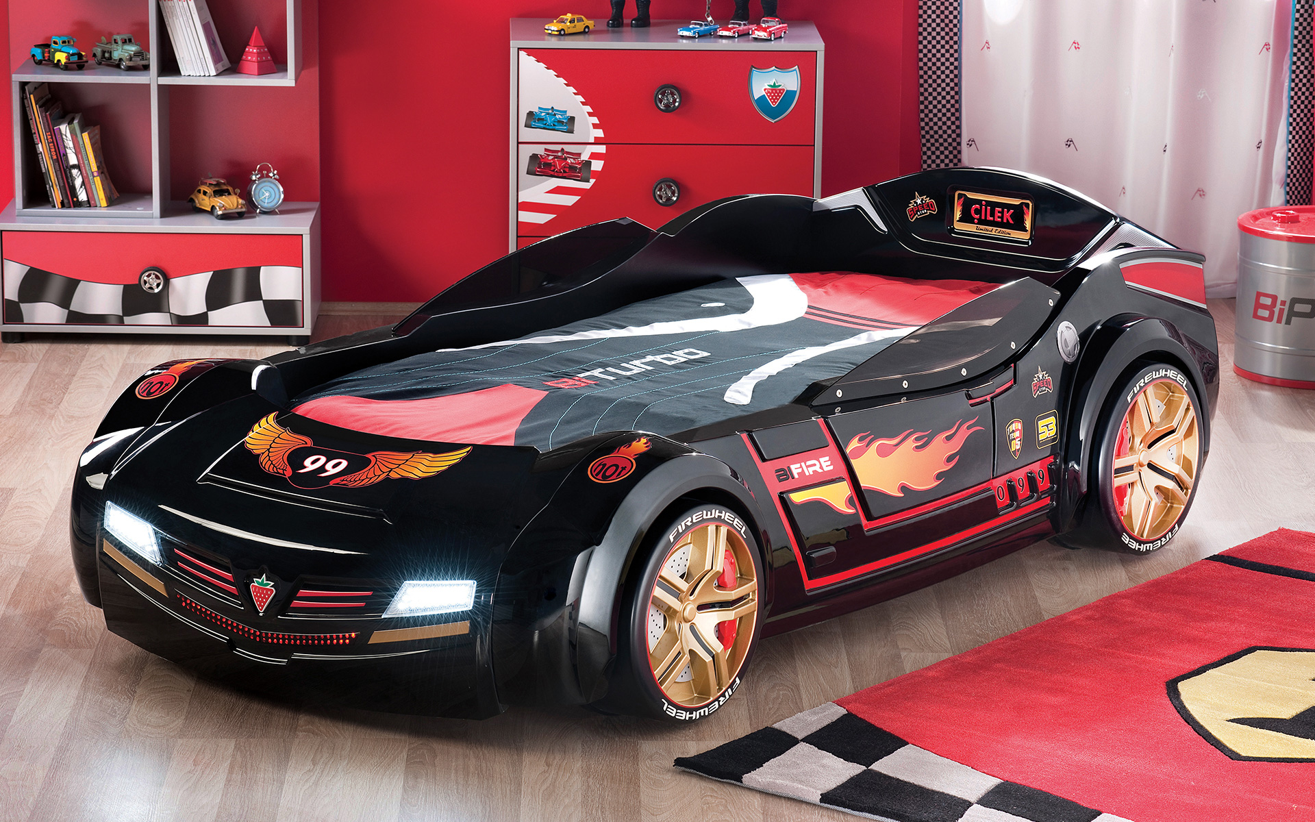 lit voiture noire
