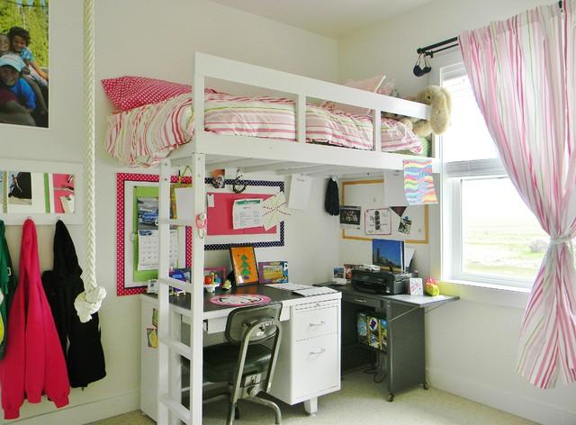 lit mezzanine dans la chambre