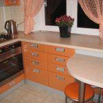 cuisine 6 mètres carrés orange
