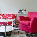 housse de chaise rose