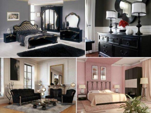 options pour les meubles noirs à l'intérieur