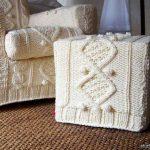 couvertures de meubles tricotés