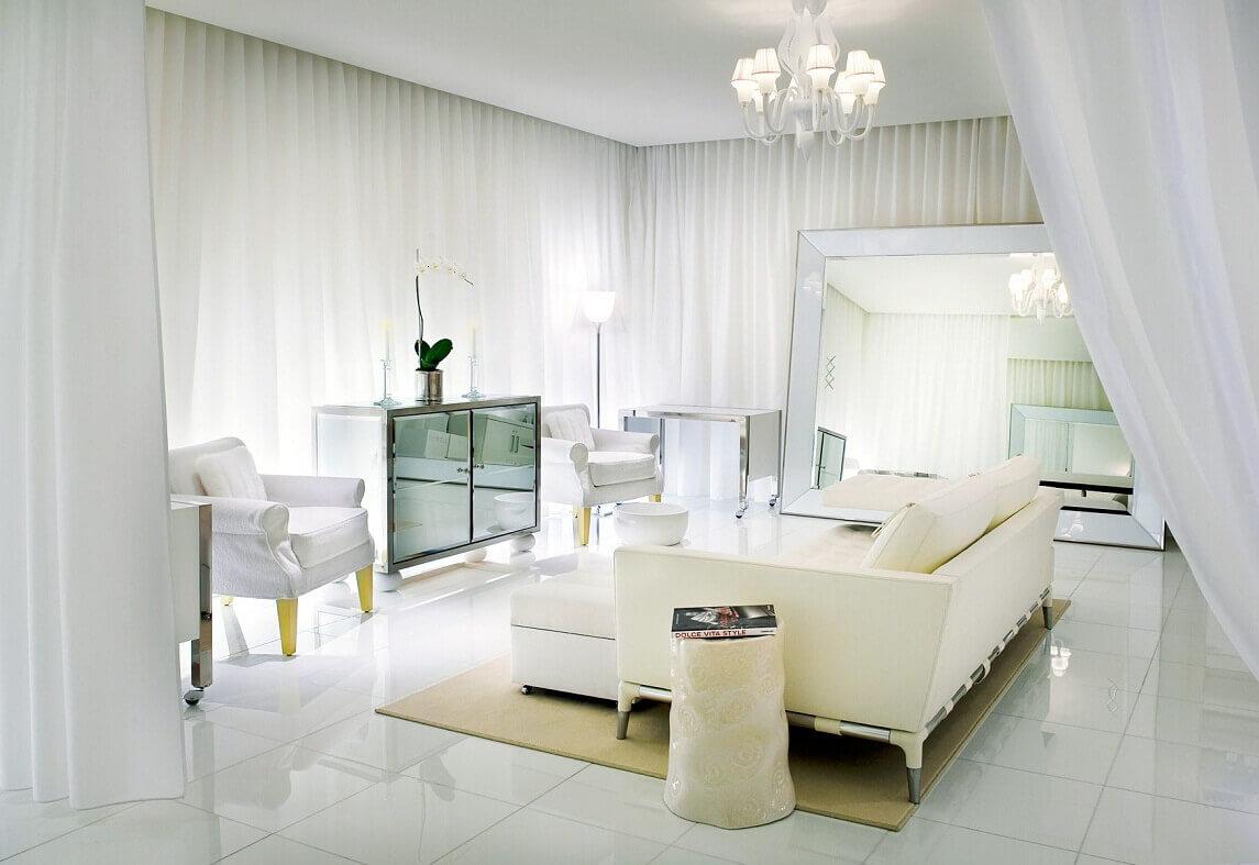 intérieur du salon blanc