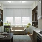 bank in de keuken met tapijt