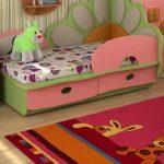 lasten sänky lastulevyn sivuilla