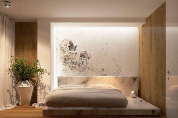 Muren in een kleine slaapkamer