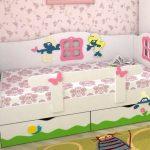 lit bébé avec pare-chocs pour filles