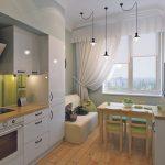 bank in de keuken Scandinavische stijl