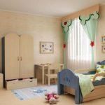 lasten sänky, jossa on sivut makuuhuoneessa