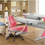 computer stoel roze