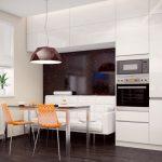 keuken met witte bank
