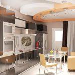 kleine keuken met een bank