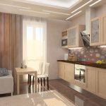 keuken met sofa licht