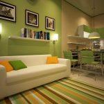 comfortabele keuken met een bank